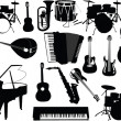 Musical instruments collection - Stock Vector