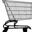 Wagon for shopping — Image vectorielle