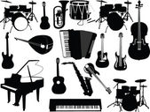 Musical instruments collection — Stock Vector