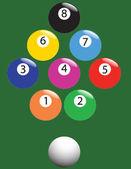 Snooker — Stock Vector