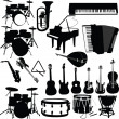 Musical instruments — Vector de stock #2443539