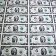 Sheet of Two Dollar Bills 4 — Stock Photo #2100226