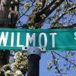 Wilmot Street Sign - Stock Photo