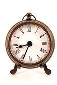 Metallic Clock — Stock Photo