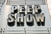 Peep Show Sign — Stock Photo