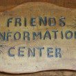 Stock Photo: Information Center Sign