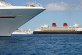 Anchored Cruise Ships — Stock Photo