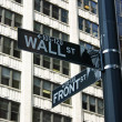 Stock Photo: Wall Street Sign