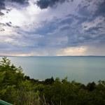 Storm over the lake Balaton — Stock Photo