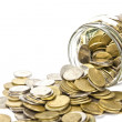 Jar of coins — Stock Photo