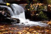 美しく、静かな滝、自然の中で — ストック写真