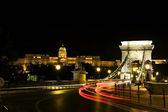 Panorama de budapest par la tombée de la nuit — Photo