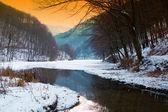 Winter lake — Stock Photo