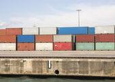 Freight containers — Stock Photo