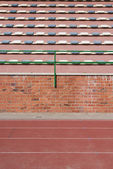 Racetracks and seats — Stock Photo