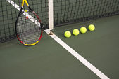 Yellow tennis balls — Stock Photo
