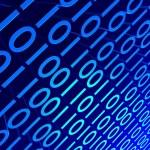 Blue Binary — Stock Photo