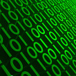 Stock Photo: Green Binary
