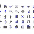 Blue Web Icons — Stockvektor