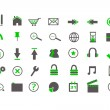 Stock Vector: Green Web Icons