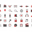 Royalty-Free Stock Vector Image: Red Web Icons