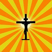 Jesus-sunburst — Stockvektor