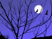 Ay alacakaranlık — Stok fotoğraf