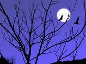 Twilight měsíc — Stock fotografie