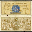 Old scottish bank note — Stock Photo