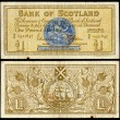 Old scottish bank note - Stock Photo