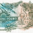 Close-up of an old English bank note — Stock Photo