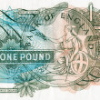 Close-up of an old English bank note - Stock Photo