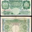 Old English bank note — Foto Stock
