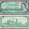 Old Canadian dollar bill — 图库照片