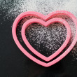Heart shaped cookie cutters — Stock Photo