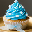 Royalty-Free Stock Photo: Blue cupcake