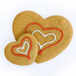 Stock Photo: Heart shaped cookies