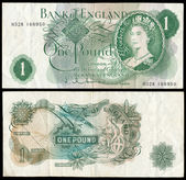Old English bank note — Stock Photo