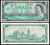 Old Canadian dollar bill — Stock Photo