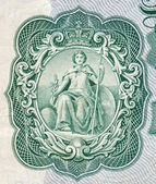 Britannia on an old English bank note — Stock Photo