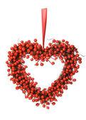 Red berry wreath — Stock Photo