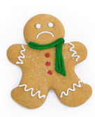 Sad gingerbread man — Stock Photo