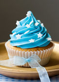 Blue cupcake — Foto de Stock
