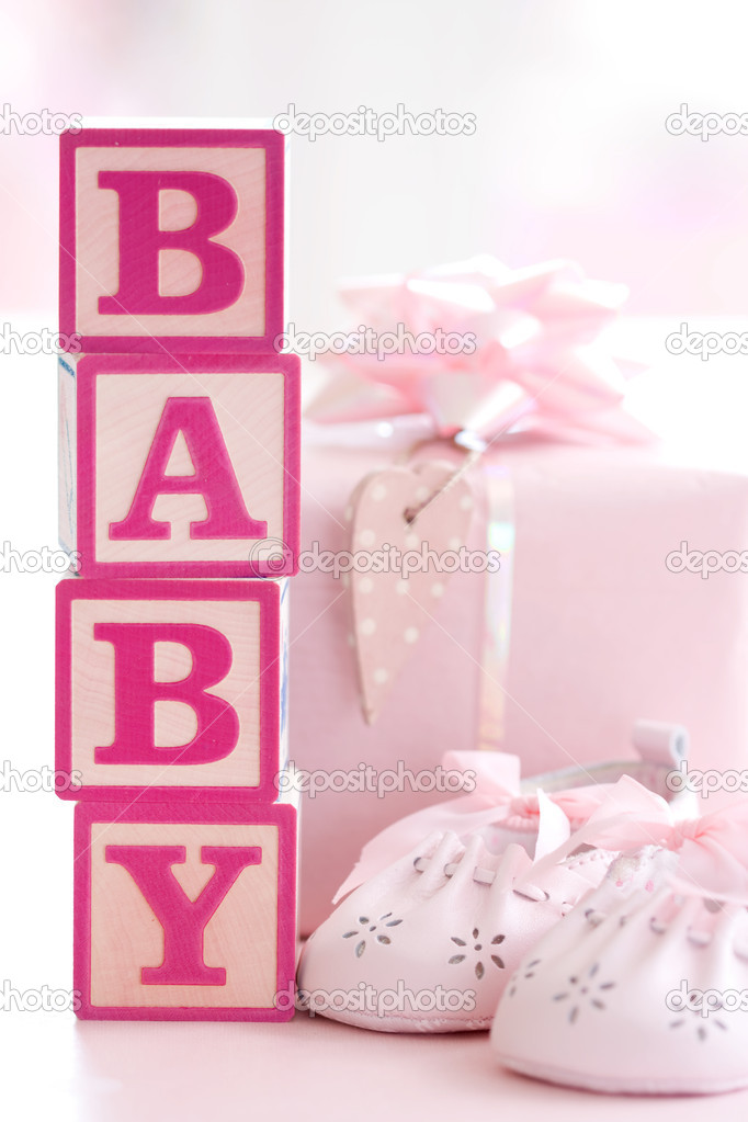 Concept shot for baby shower or new baby — Stock fotografie #2058257