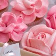 Stock Photo: Cupcake gift box