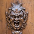 Stock Photo: Wooden gargoyle
