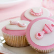 Cupcakes for a baby shower — Stock Photo #2201931