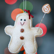 Gingerbread man christmas decoration — Stock Photo