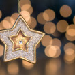 Christmas star tree ornament — Stock Photo