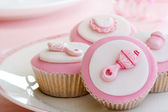 Cupcakes for a baby shower — Stockfoto